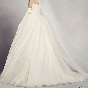 f2e38505c7a Vera Wang Dresses - White by Vera Wang Textured Organza Wedding Dress